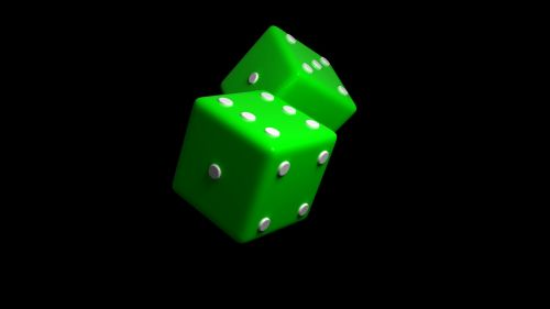 dice green luck