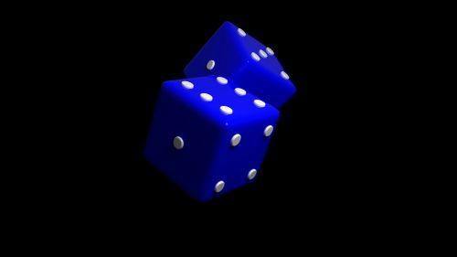 dice blue play