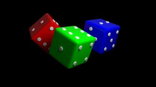dice cube red