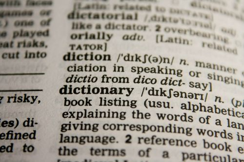 dictionary words grammar