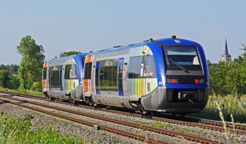 diesel railcar colorful sncf