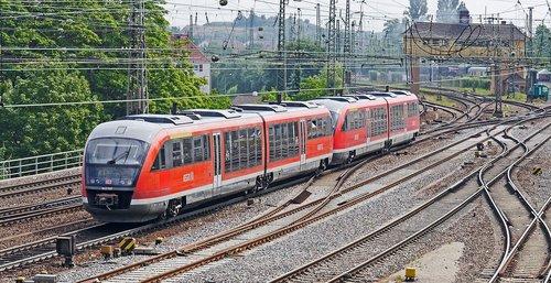 diesel railcar  double unit  siemens
