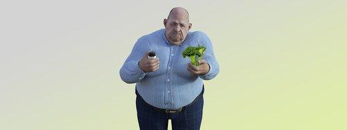 diet  man  nibble