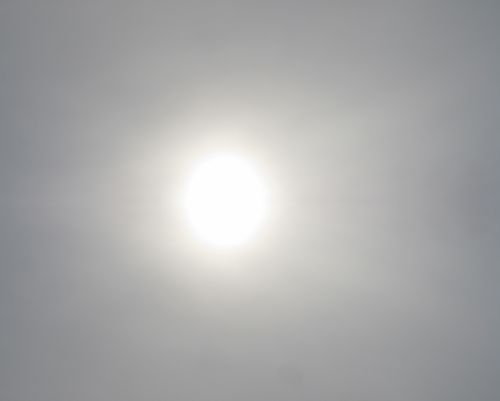Diffused Sun Behind Clouds