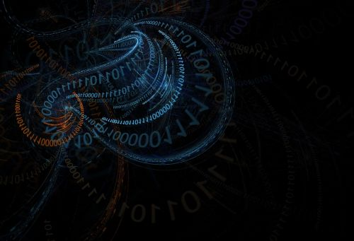digital abstract binary