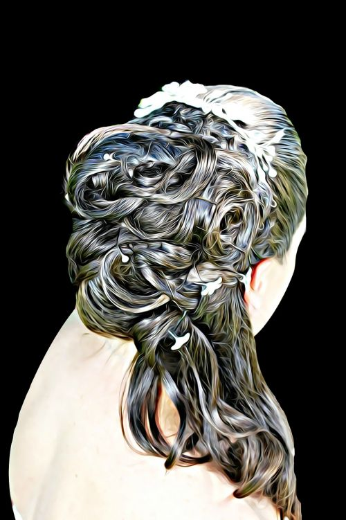 skaitmeninis,dažymas,grafika,plaukai,galvos apdangalai,atsitiktiniai plaukai,moteris,sagtis,galvos apdangalai