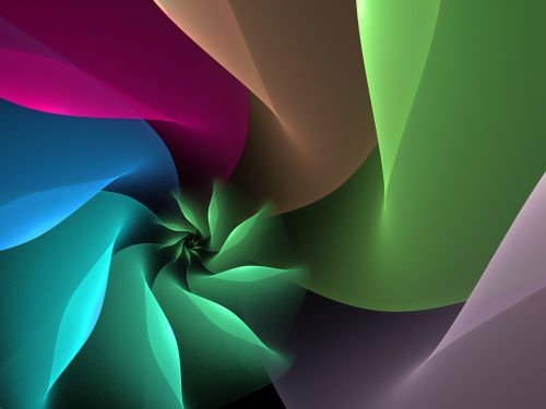 digital fractal spiral