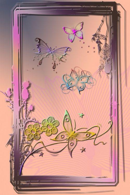 digital art artwork butterflies