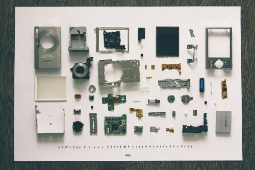 digital camera disassembly component parts