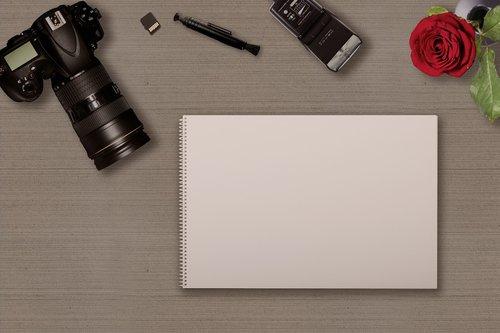 digital camera  notebook  memory card