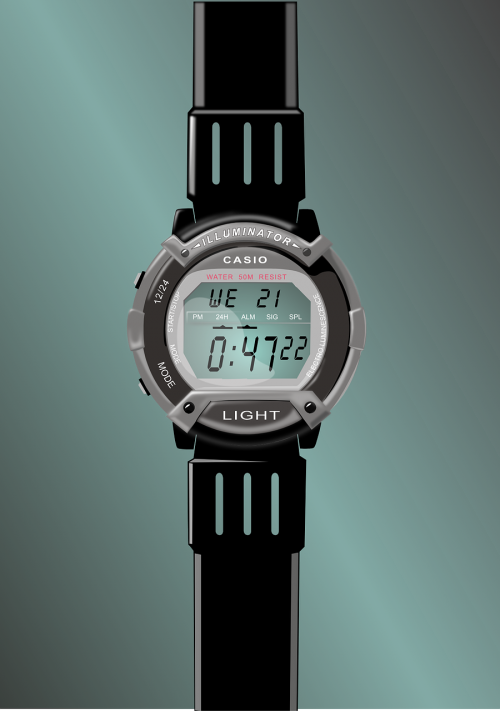 digital clock watch wrist watch