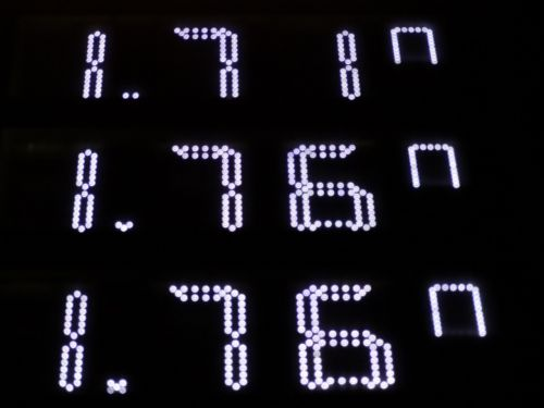 digital display pay luminous numerals