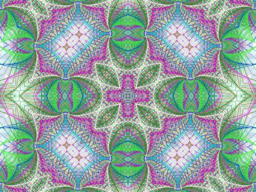 Digital Kaleidoscope With Line