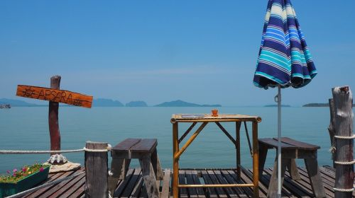 digital nomad work by the sea work environment