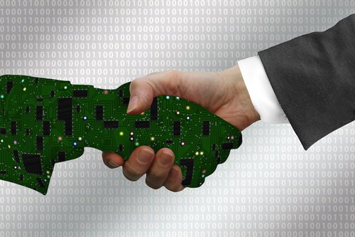 digitization  handshake  shaking hands