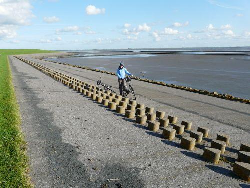 dike dike road north sea