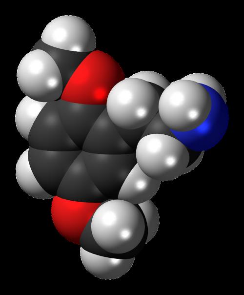 dimethoxyphenethylamine molecule compound