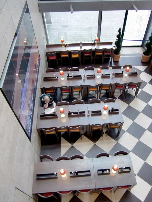 dining tables restaurant lonely
