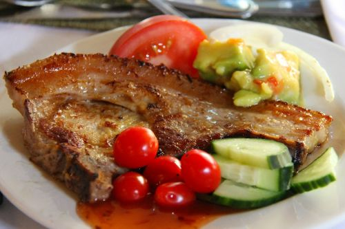 dinner meat pork