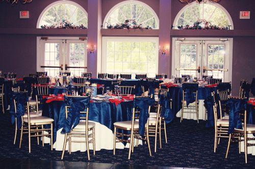 dinner reception table