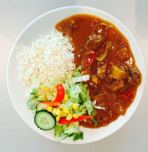 dinner rice meal