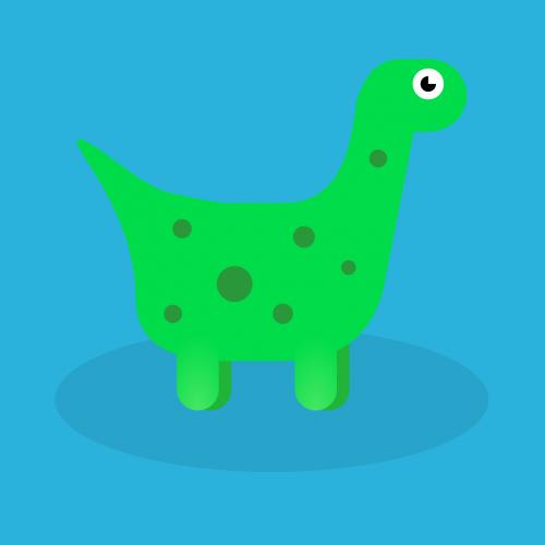 dino dinosaur green