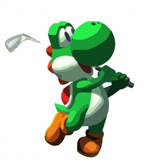 dinosaur green golf