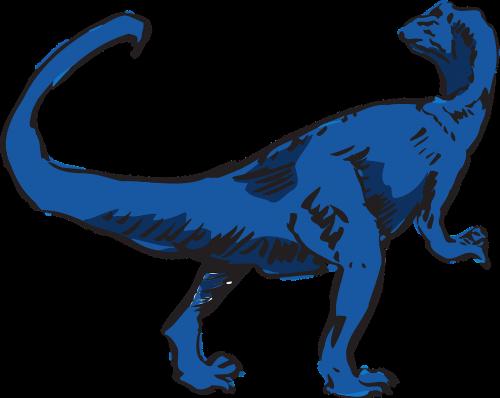 dinosaur blue prehistoric