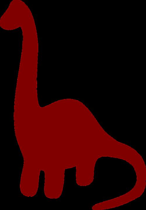 dinosaur brown silhouette