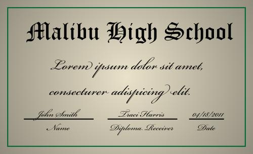 diploma certificate graduation