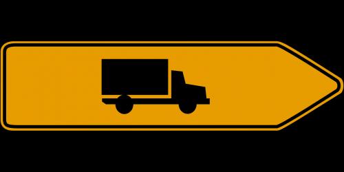 direction trucks road sign