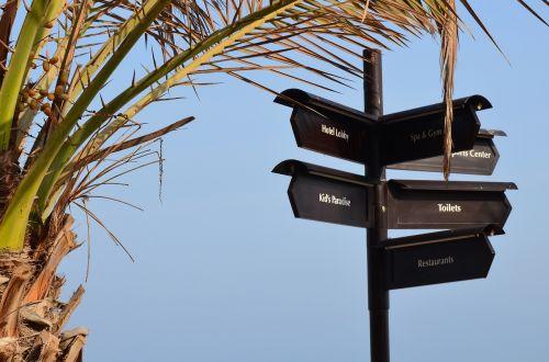 directory beach signpost