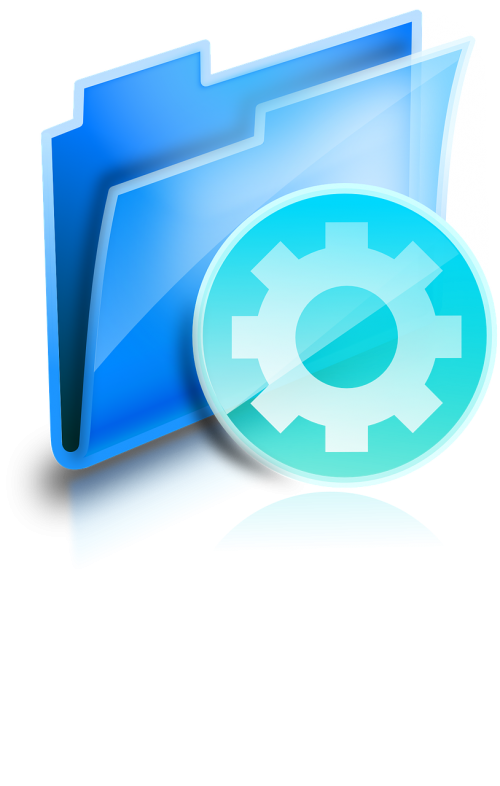 directory folder gearwheel