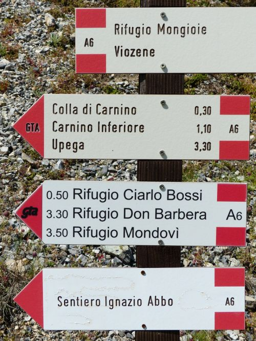 directory signposts hiking trails