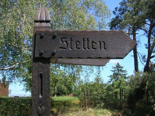 directory signposts wood