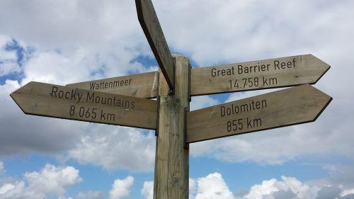 directory signs north sea