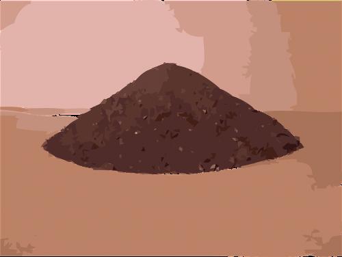 dirt soil pile of dirt