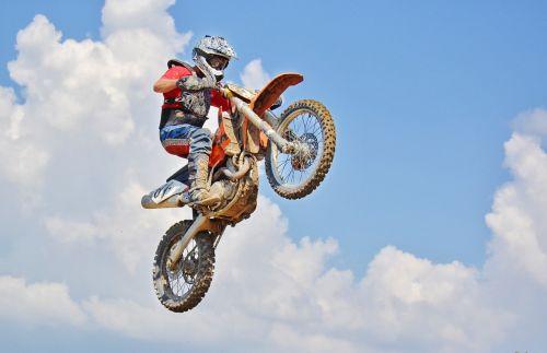 dirt bike air jump motocross rider