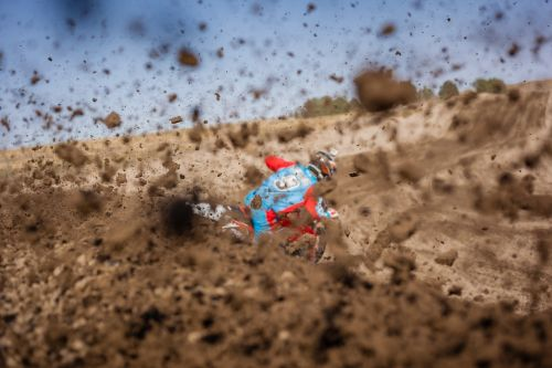 dirt bike racer racing