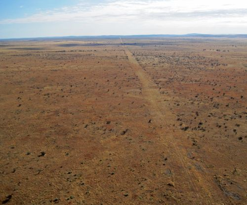 Dirt Track In The Desert