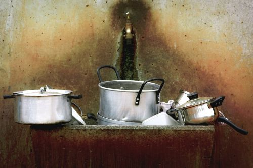 dirty dishes kitchenware