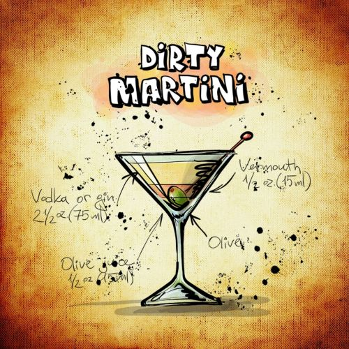 dirty martini cocktail drink