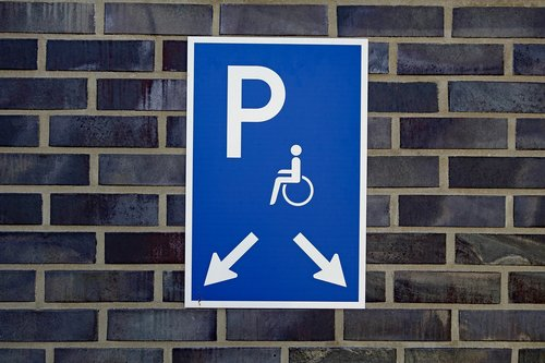 disabled parking space  park  disability
