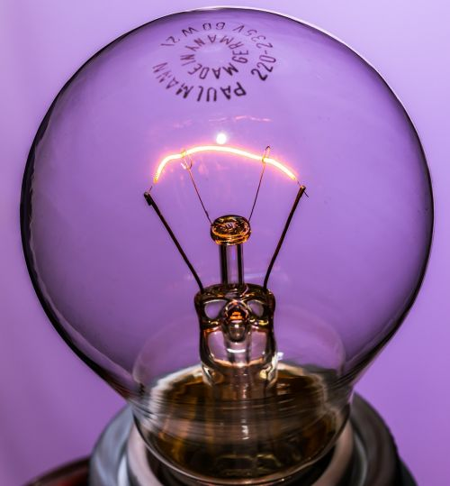 disappearing light bulb at