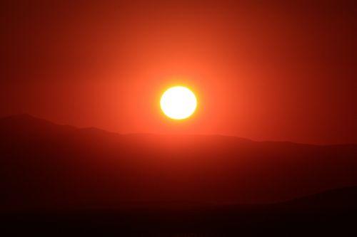 disc sun sunset orange