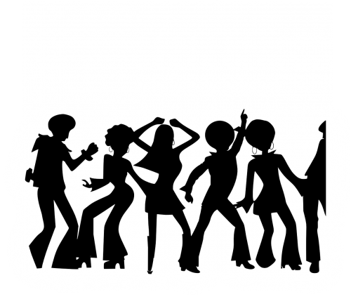 disco people dancing