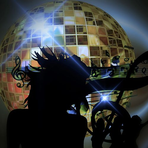 disco ball woman dance