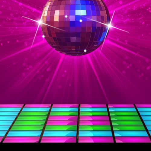 Disco Ball And Disco Floor