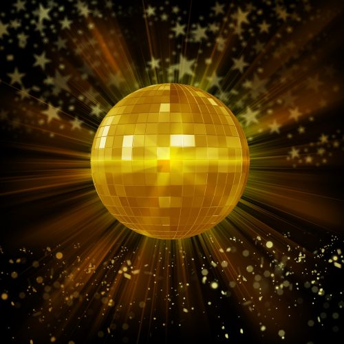 Disco Ball Background With Lights