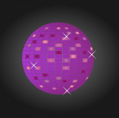 Disco Glitter Ball Purple